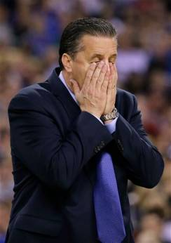 calipari NCAA Kentucky Wisconsin Final Four Basketball